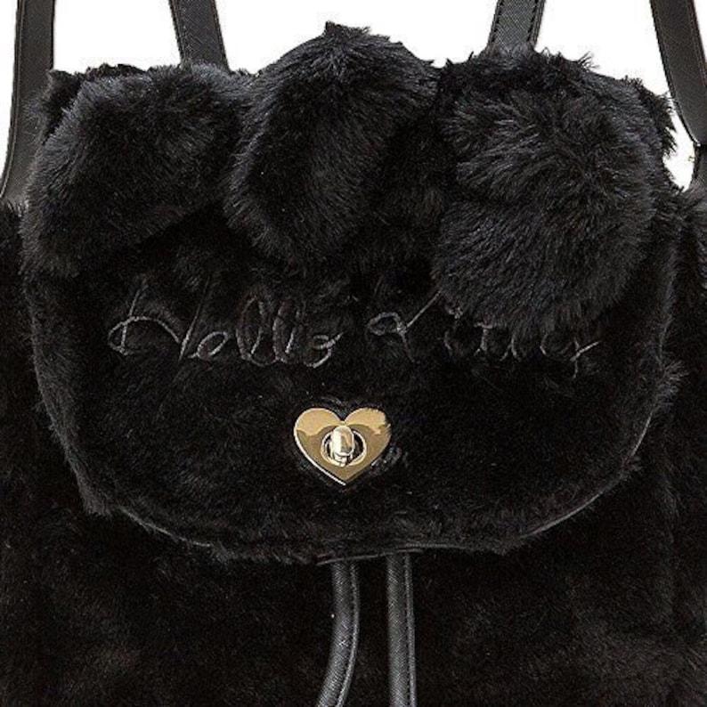 Hello Kitty  Fake fur Backpack Black SANRIO from Japan KAWAII