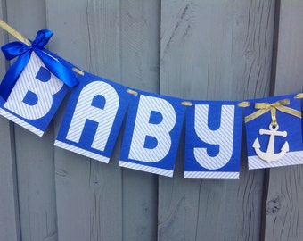 Baby Shower banner, Royal blue banner, Royal blue baby shower banner, Baby Shower Decor, Baby Boy banner, Navy blue banner.