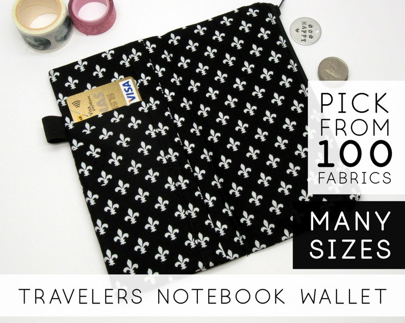 Zipper Pocket Insert for Travelers Notebook With Pockets  image 0