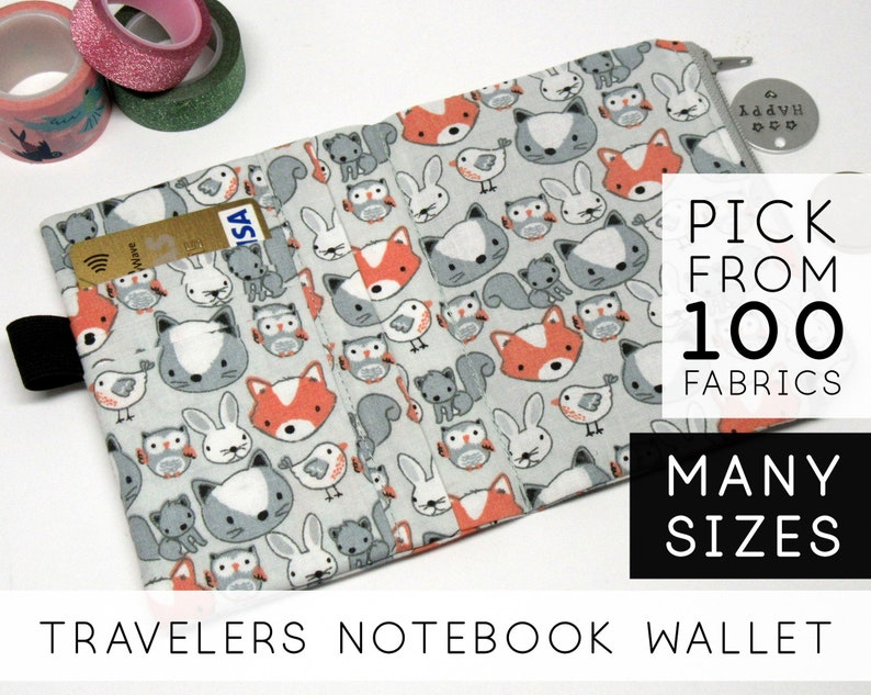 Travelers Notebook Wallet Insert  Field Notes Pocket image 0