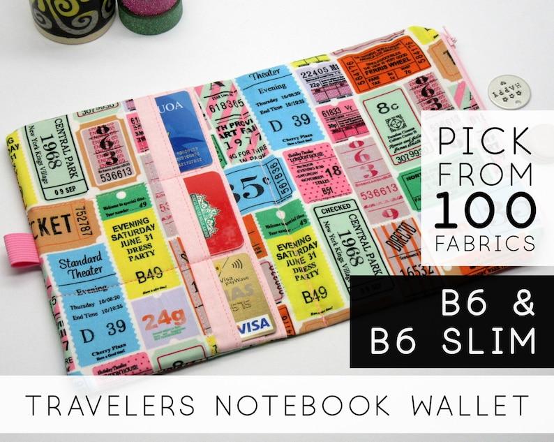 Zipper Wallet Insert for Chic Sparrow E Class  5x7 B6 & B6 image 0