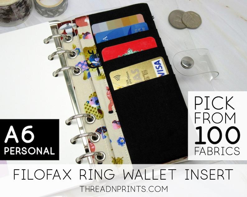Credit Card Holder Insert For Filofax Classic Croc Personal image 0