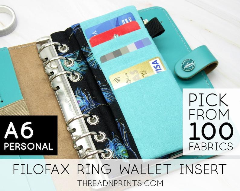 Zipper Pocket Insert For Personalized Large Ring Binder image 0