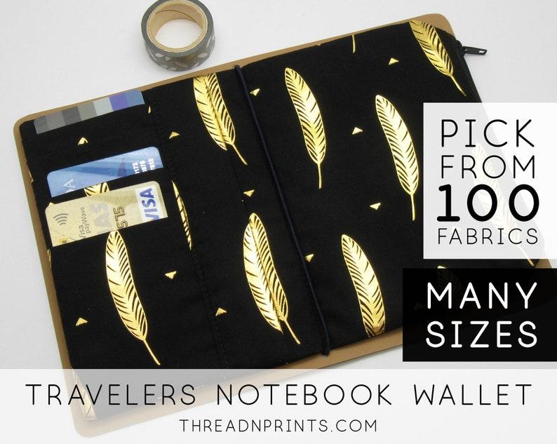 Passport Wallet Insert for Traveler's Notebook Leather  image 0
