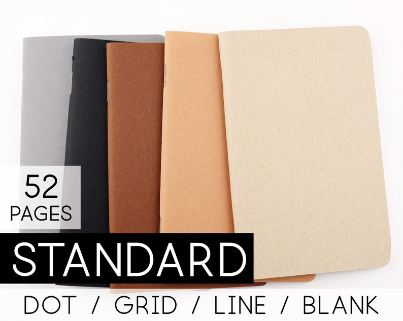 Grid Notebook For Standard Size Travelers Notebook Dotted image 0