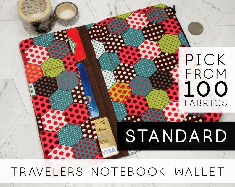 Pocket Notebook Wallet  Size: Standard Regular  Hexagonal image 0