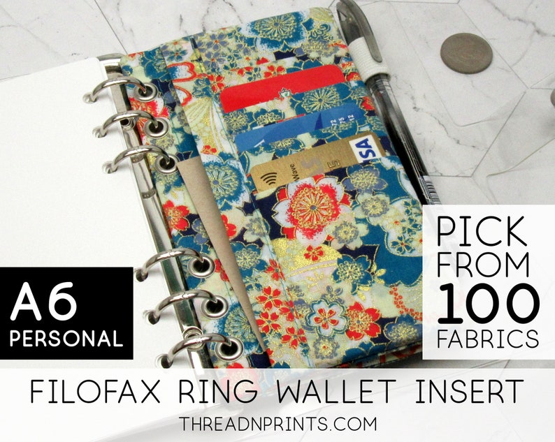 Coin Pouch Insert For Filofax Pocket Holborn Black  Size A6 image 0