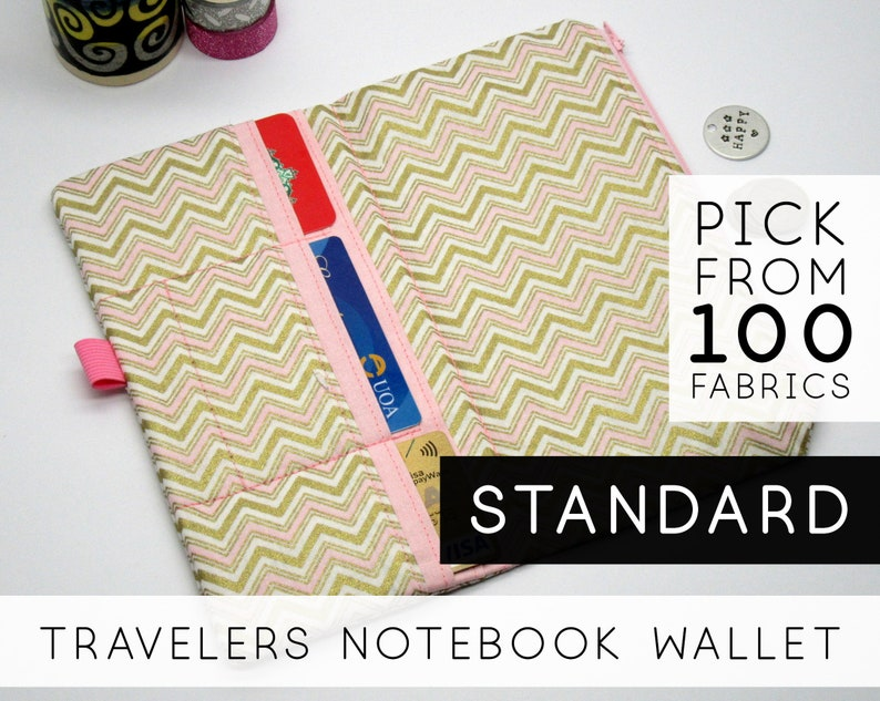 Wallet With Notebook And Pen  Size: Standard Regular  Gold image 0