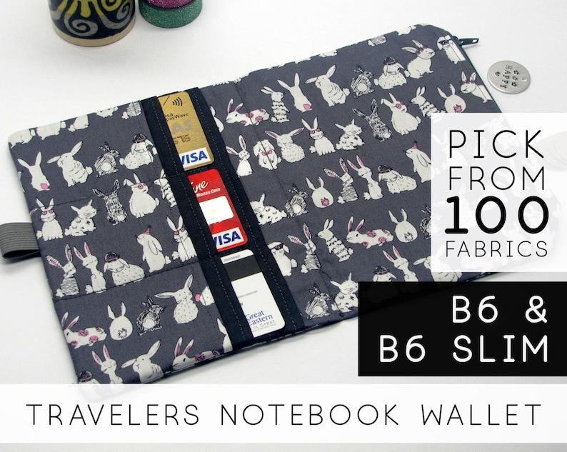 Zipper Pouch Insert  Midori Traveler's Notebook image 0