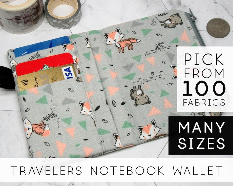 Zipper Wallet Insert for Midori Traveler's Notebook image 0