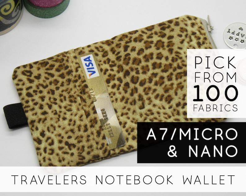 Chic Sparrow Zipper Wallet  Nano Mini Micro A7  Brown Ocelot image 0