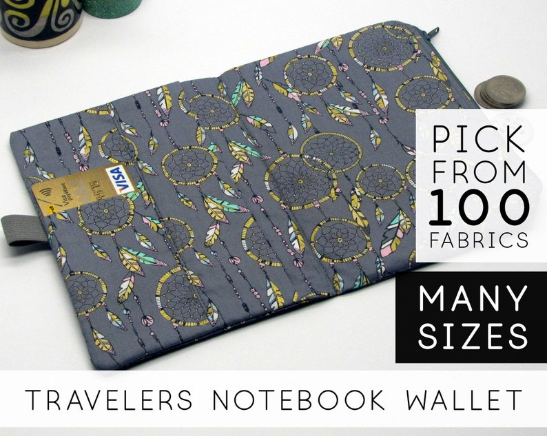 Functional Travelers Notebook Fabric Insert  Field Notes image 0