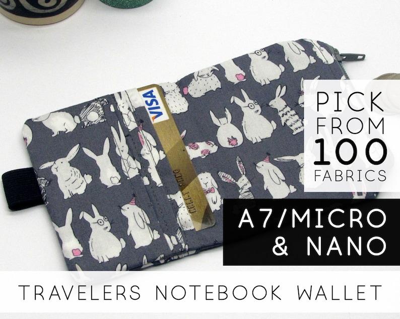 Zipper Wallet Insert for Traveler's Notebook Planner  image 0
