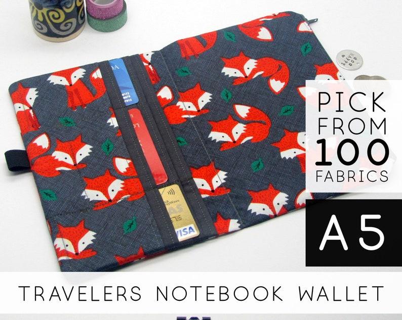Zipper Pouch Insert for Midori Traveler's Notebook Refill image 0