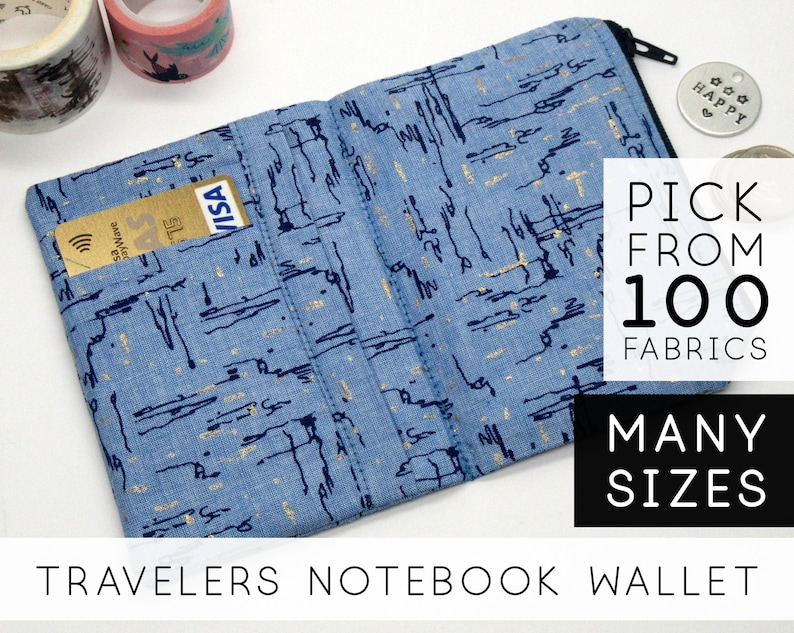 Zipper Wallet Insert for Chic Sparrow Waypoint  Field Notes image 0