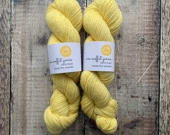 DK Weight Hand Dyed Yarn 100% BFL (Bluefaced Leicester) 100g Skein - Sand - knitting, crochet, weaving, fibre art