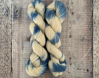 DK Weight Hand Dyed Yarn 100% BFL (Bluefaced Leicester) 100g Skein - First Dip - knitting, crochet, weaving, fibre art