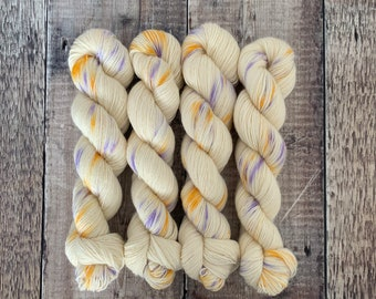 4 Ply/Sock Weight Hand Dyed Yarn Super Wash British Wool 100g Skein - Elna and the Moon - for knitting, crochet etc.