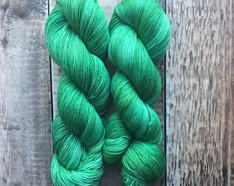 4 Ply/Sock/Fingering Weight Hand Dyed Yarn Super Wash Merino 100g Skein - Sea Glass - for knitting, crochet, weaving, textile arts