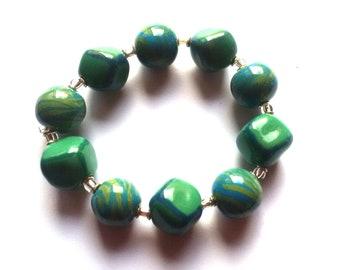 Jade beads cap 50pc