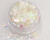 Milky Way - Chunky Cosmetic Grade Body Face Glitter For Festival And Creative Makeup Slime And Craft Supplies