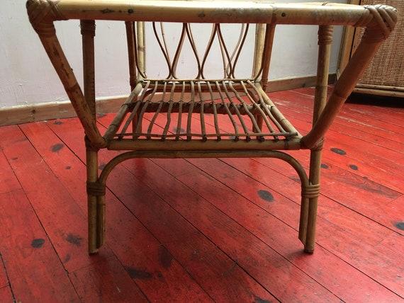 Vintage Ancienne En Revues Basse Porte Table Rotin D2W9EHYI