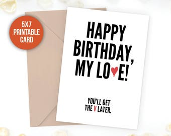 Funny Birthday Card Boyfriend Dirty Sexy Naughty Rude