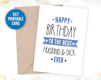 Funny Birthday Funny Card Naughty Birthday Card For Etsy