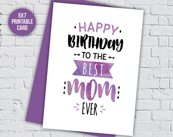 Birthday Card Mum Mom Mothers