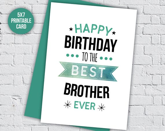 Gift For Brother Bro Birthday Sibling