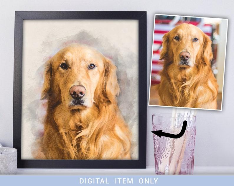 custom dog portrait dog portrait custom pet portrait pet image 0