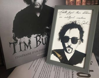 Tim Burton print - quote