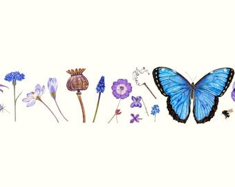 Blue and Bee limited edition print