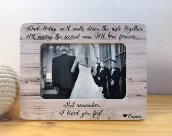 Thank You Gift Father Of The Bride Frame Of All The Walks Etsy