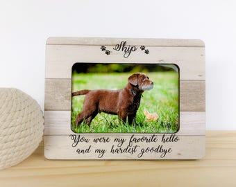 Personalized Dog Cat Frame Dog Memorial Frame Pet Loss Gift Etsy