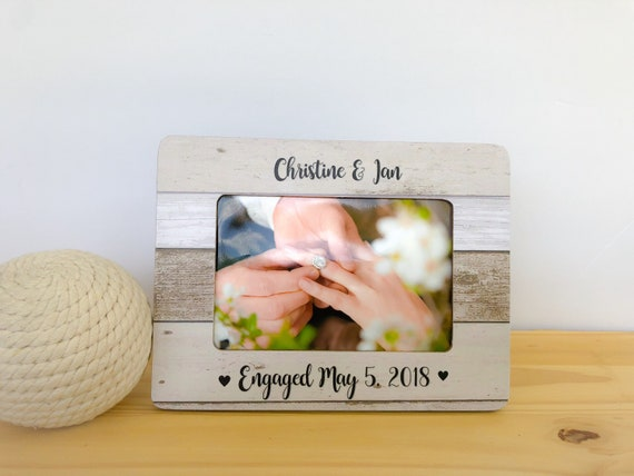 Engaged Frame. Proposal Frame. Engagement Party Gift.