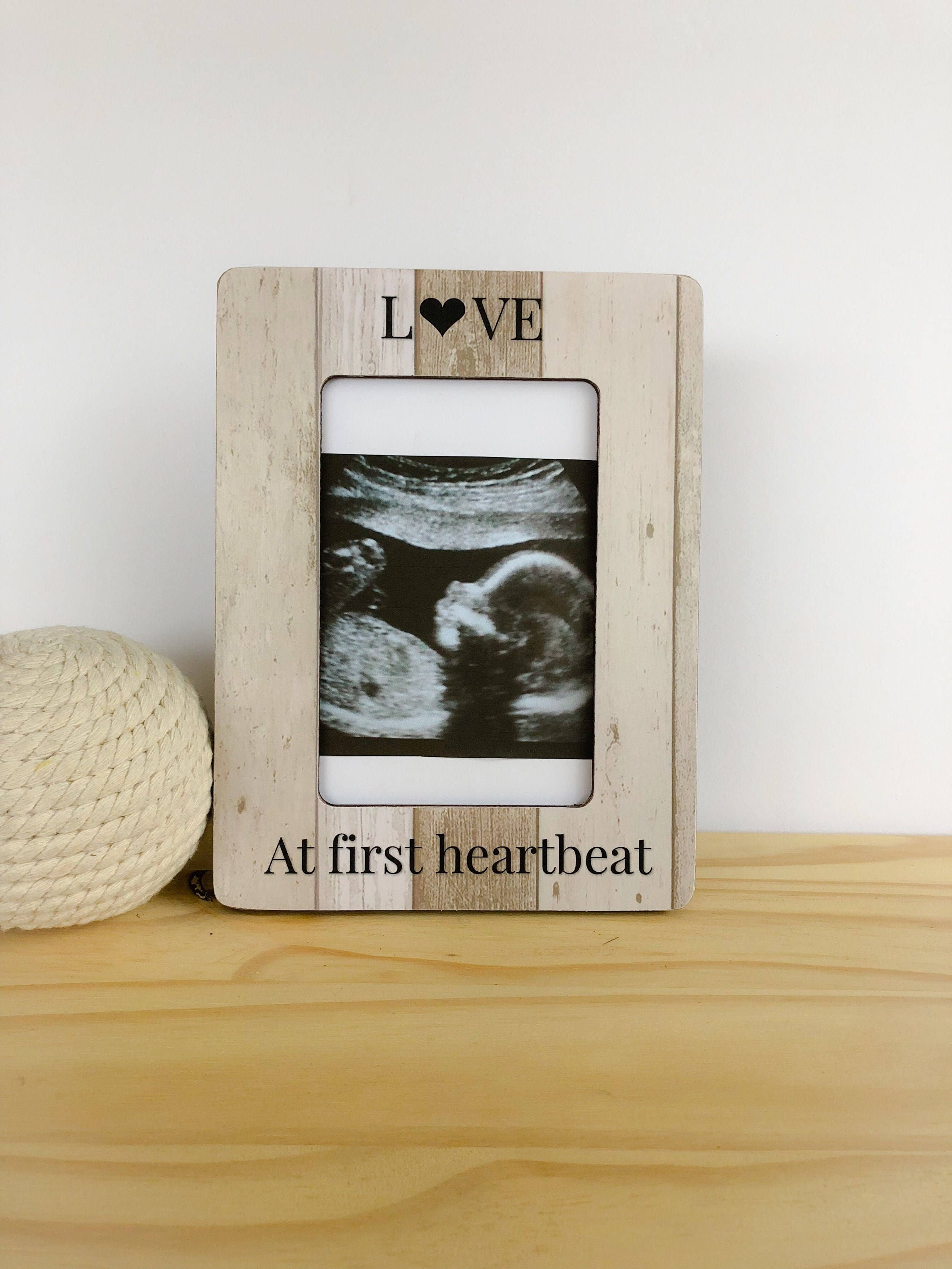 Love At First Heartbeat Frame Ultrasound Frame Sonogram Frame Etsy