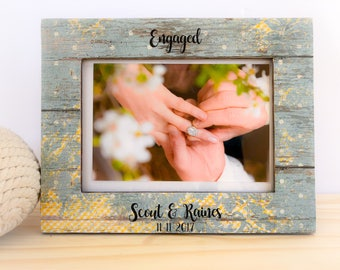 Engagement Picture Frame. Proposal frame. Engagement party gift. Engaged!