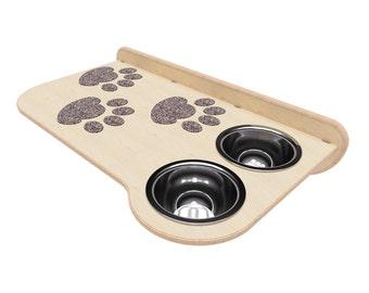 Cat Bowl, Pet Bowl, Cat Food Bowl, Cat Plate Rack, Personalized Cat Bowl Rack, Raised Cat Feeder, Feeding Rack, Cat Feeding, Dog Feeder