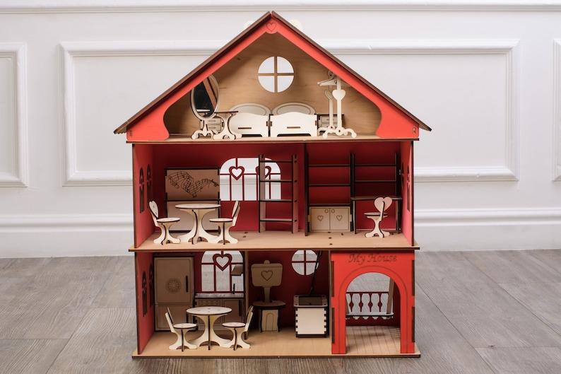 Mobili Per Bambole In Legno : Set soggiorno mobili per bambole in legno bambole in scala