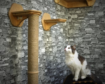 Wall mounted furniture for cats, Condo for cats, Shelf for cats, Wooden house for cats, Shelves for cats, Wood for cats, Furniture for cats