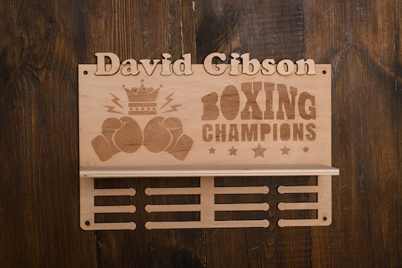 Medal Display Boxing Gift For Athletes Present For Birthday Etsy