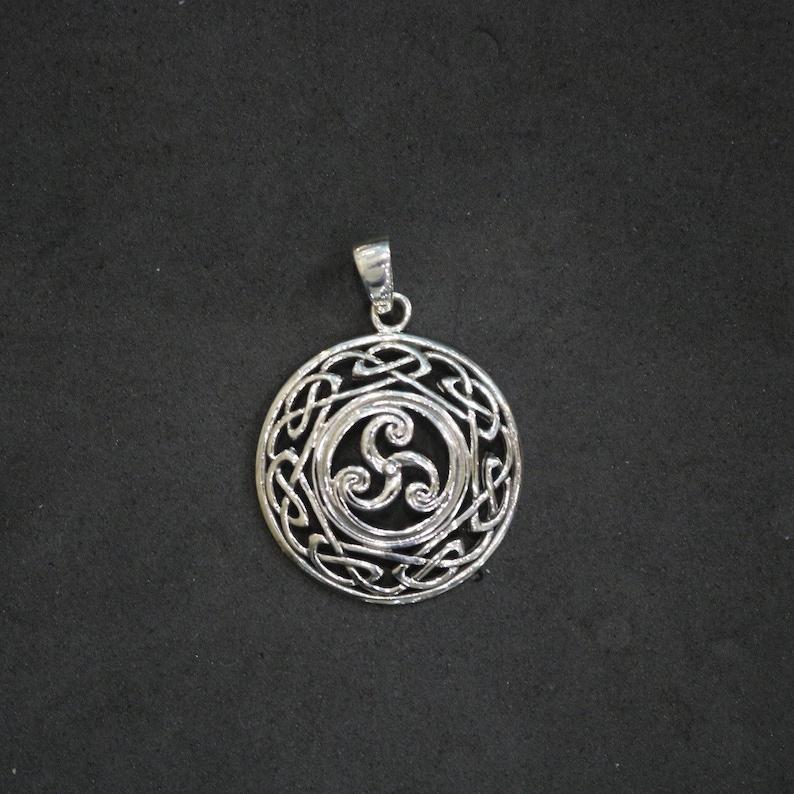 Celtic Triskelion Eternal Knot Pendant