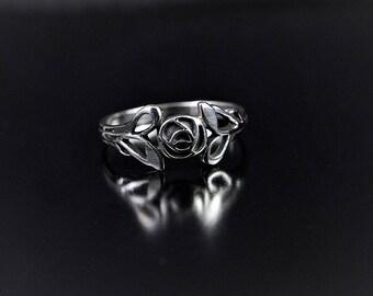 Mackintosh Ring| Mackintosh Rose| Sterling Silver| Scottish Jewellery| Edinburgh| Glasgow Rose| Handmade