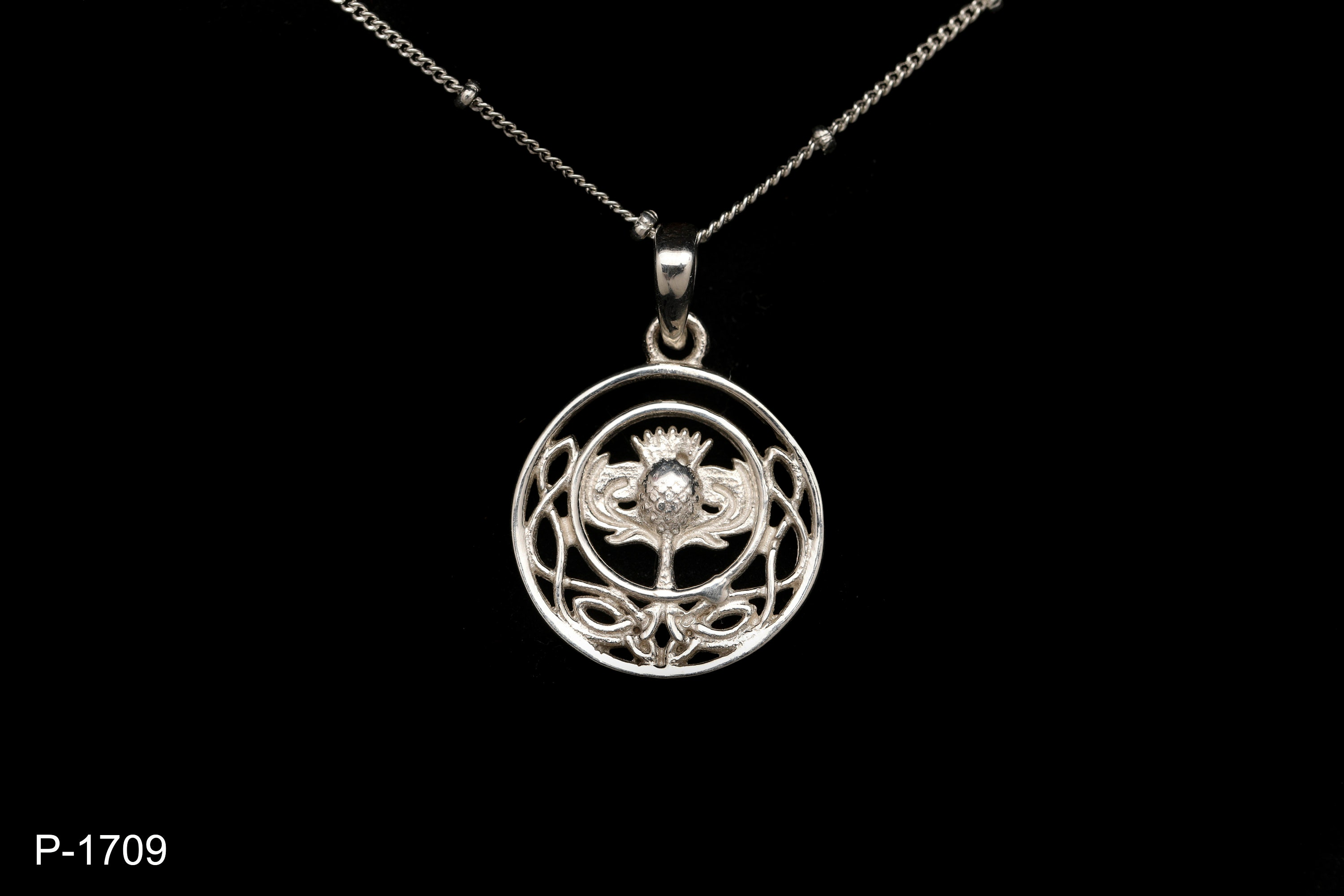 Scottish Thistle Pendant   Sterling Silver  Celtic Jewellery   Scottish Jewellery   Scotland   Edinburgh   Handmade, used for sale