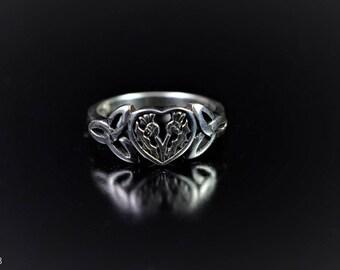 Scottish Thistle Ring  Sterling Silver  Celtic Jewellery  Scotland  Scottish Jewellery  Edinburgh  Handmade