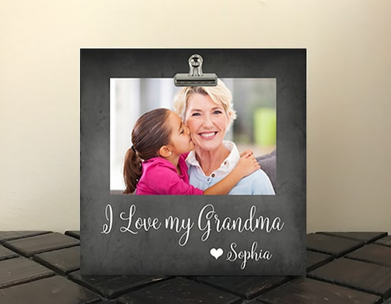 "New Size, Perfect for MOTHER's Day, FREE Design Proof and Personalization, Photo Clip Frame 8x8"", Grandma, Mom, Stepmom, Nana, Mimi   il07"