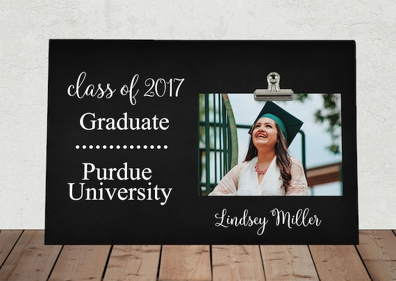 personalized graduation photo frame made in the usa class of etsy