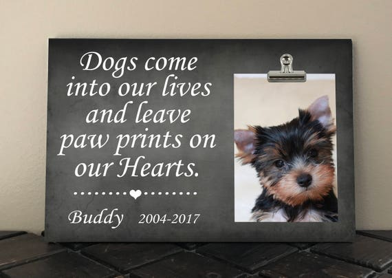 Dogs Come Into Our Lives And Leave Paw Prints On Our Hearts Etsy