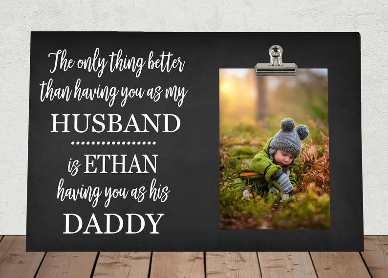 Don't underestimate the Father's love because he will brag about his baby every time he has a chance. Send him this photo frame this Father's Day and see if he'll take it with him when he wants to show off his baby to everyone.